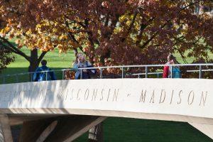 UW Madison pedestrian bridge over Park Street